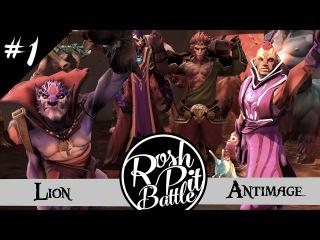 ROSH PIT BATTLE #1 | LION vs ANTI-MAGE | DOTA VERSUS RAP BATTLE