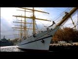 Парусник Херсонес: прогулка по нижней палубе, подъём косого паруса