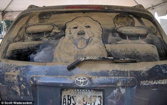 рисунки на грязных автомобилях скотт  Уэйд