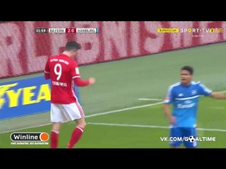 Бавария - Гамбург 8:0. Обзор матча. Германия. Бундеслига 2016/17. 22 тур.