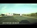 таксист не уступил на кольце мотоциклисту г Обь кольцо Аэропорт Толмачево 20 07 2017 время 20 07
