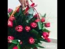 Корзина тюльпаны