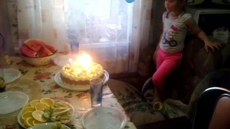 день рождения дочки 4годо