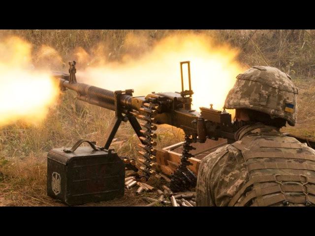 Ukrainian Soldiers Intense Combat Training Shooting DShK Heavy Machine Guns