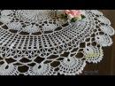 Как связать круглую салфетку Нежные узоры Часть 1/ Big crochet doily