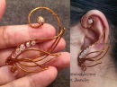Angel wing ear cuff - wire wrap jewelry design 71