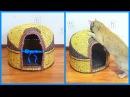 Торжественное заселение кота в дом из газет! советы по плетению котодома!