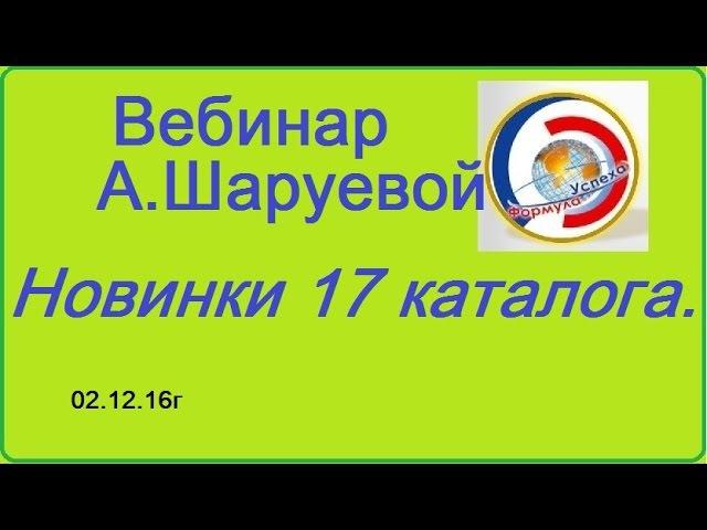 Веб. А.Шаруевой Запуск 17 каталога. 021216