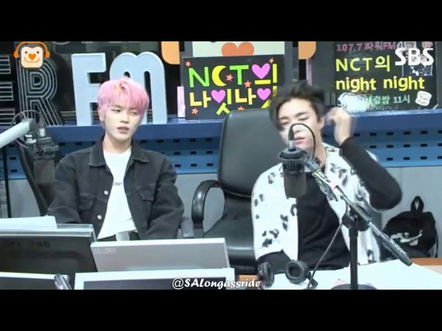 170816 Taeyong and Johnny jamming to Welcome to The Black Parade