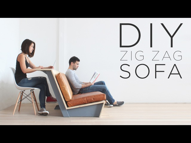 DIY Zig Zag Sofa   How to make a modern couch