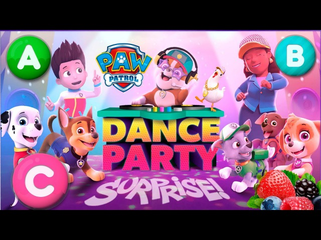 Paw Patrol dance party surprise learn ABC Gameplay funny animated cartoon for kids full
