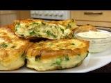 Вкусные оладьи с зеленым луком
