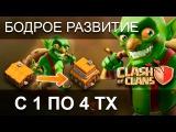 НОВАЯ СТРАТЕГИЯ БЫСТРОГО РАЗВИТИЯ С 1 ПО 4ТХ / Clash of clans
