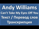 Andy Williams - Can't Take My Eyes Off You (текст, перевод и транскрипция слов)