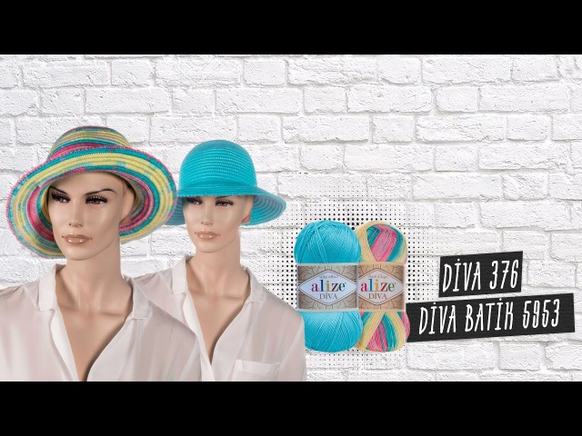 Alize Diva ile Yazlık Şapka Yapımı-Making Summer Hats with Alize DivaDiva Batik