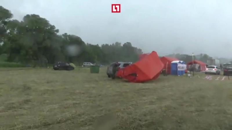 Первая волна урагана в Москве
