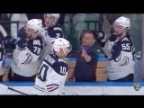 Сергей Мозякин забрасывает свою 350-ю шайбу в КХЛ