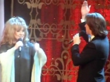 Алла Пугачёва и Максим Галкин на съёмках шоу «Две звезды» (за кадром)