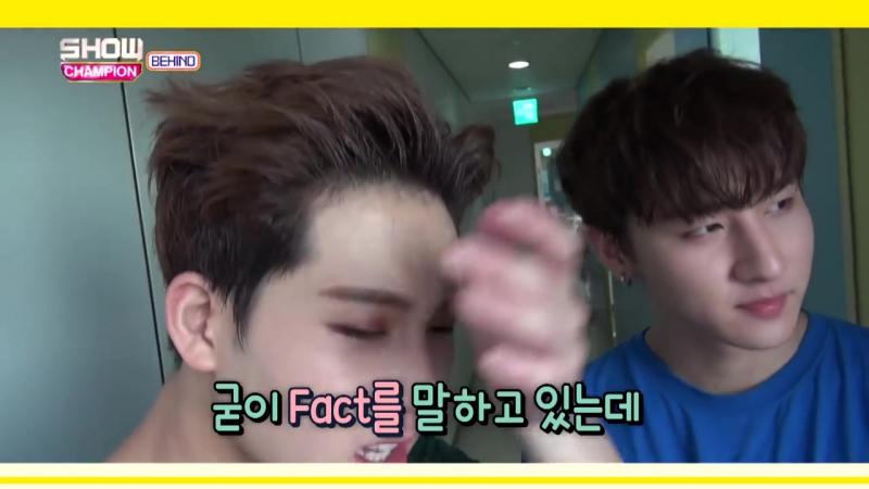 [VK][16.08.2016] Jooheon loves I.Ms joke style @ Showchampion behind EP.18