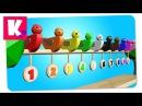 Разноцветные Канарейки Обучают Счёту. Учим Цифры Цвета. Развивающее видео для Детей