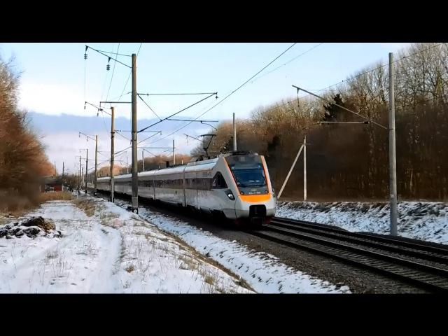 Электропоезд ЭКР1-001 Тарпан рейсом №747