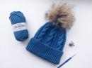 Вязаная шапка спицами МКШапка для мальчикаШапка для девочки