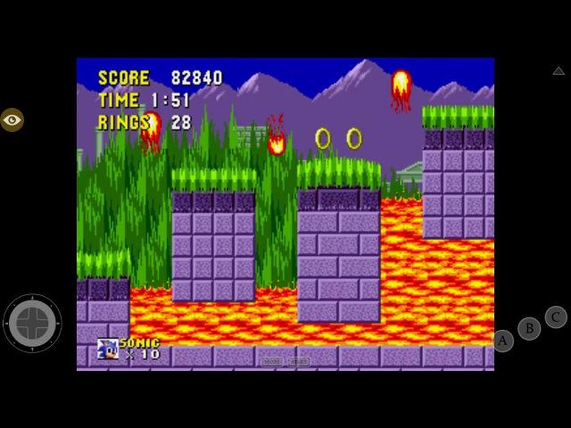 Прохождение Sonic the hedgehog (Sega Megadrive) 2 часть на планшете