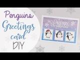 Tuto Card d'auguri Pinguini Acquerello - ENG SUBS Penguins Greetings card watercolor DIY