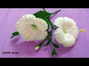 How To Make white Hibiscus Paper Flower origami step by step DIY crepe paper flower tutorials