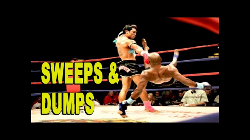 Muay Thai Sweeps and Dumps Highlight