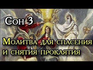 Сон Пресвятой Богородицы 3 Молитва для спасения и снятия проклятия