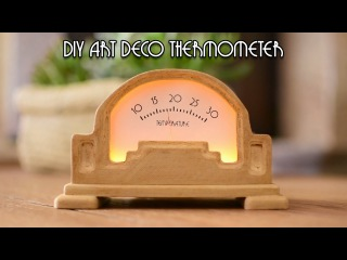 Arduino Project: Art Deco Analog Thermometer with Arduino Uno and a DS18B20 temperature sensor