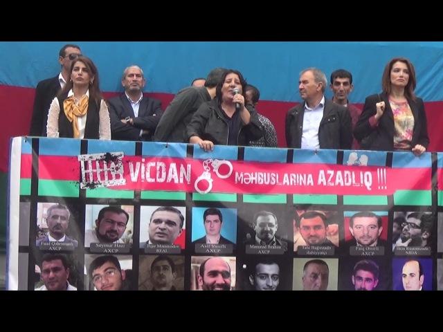Gözəl Bayramlı: Hakimiyyət qorxur! (Milli Şuranın 17.09.2016-cı il tarixli mitinqi)