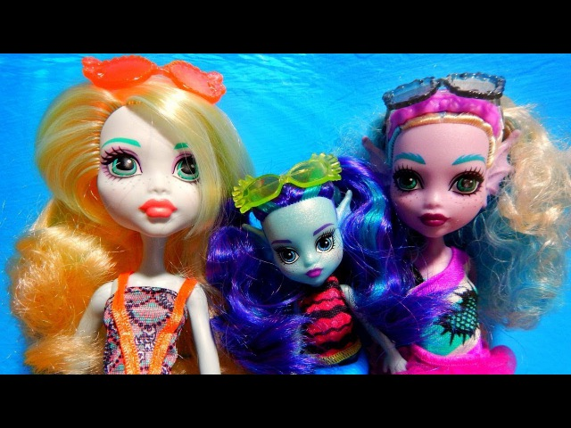 Monster High Lagoona Blue Family Kelpie Ebbie Sister Dolls Unboxing Toy Review