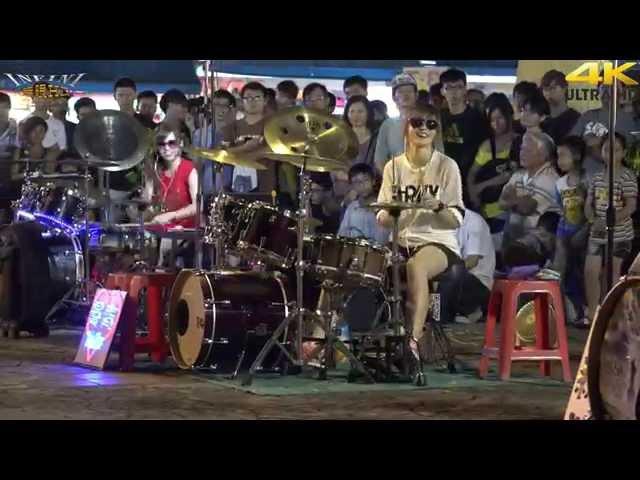 4K畫質 曼青 羅小白 豆豆龍 爵士鼓 Gentleman(4K 2160p)@凱旋夜市爵士鼓表演[無限HD] 🏆