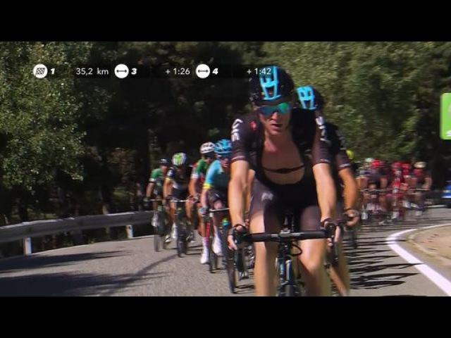 27.5 km a meta / to go - Étape 3 / Stage 3 - La Vuelta 2017 - Vìdeo Dailymotion