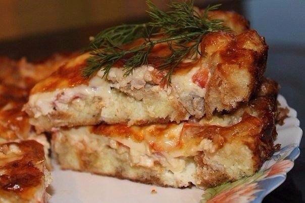 Пирог с мясом «Легче не бывает» Лучшего теста