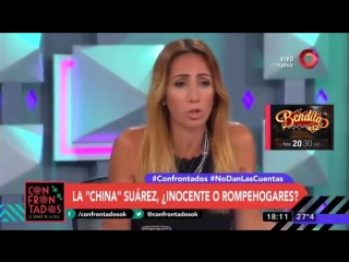 La China Suárez, ¿Inocente o rompehogares