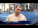 19.07. 2014 Валерий Болотов вручает ключи от автобусов. Луганск 24. Вести