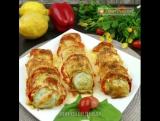 Кабачки с помидорами и сладким перцем под сыром.