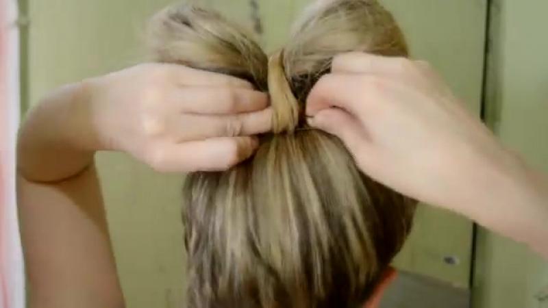Бантик из волос самой себе Bow of hair