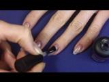 Матовый маникюр и Глянцевые бабочки на ногтях. Дизайн ногтей с Рисунком гель лак (1)