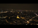 Париж с Эйфеловой башни Ночное видео