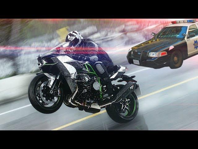 Погоня 🚓 Kawasaki H2 - VS - Police ⛔ На что надеялись ❓❓❓