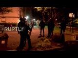 Франция Обломки разбросаны по улицам после анти-полицейских акций протеста.