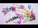 ВЫШИВКА ДЛЯ НАЧИНАЮЩИХ EMBROIDERY Lazy daisy stitch