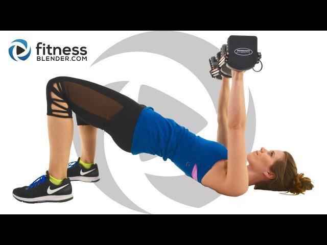 FitnessBlender - Upper Body Workout for Arms, Shoulders, Chest Back (Descending Reps)