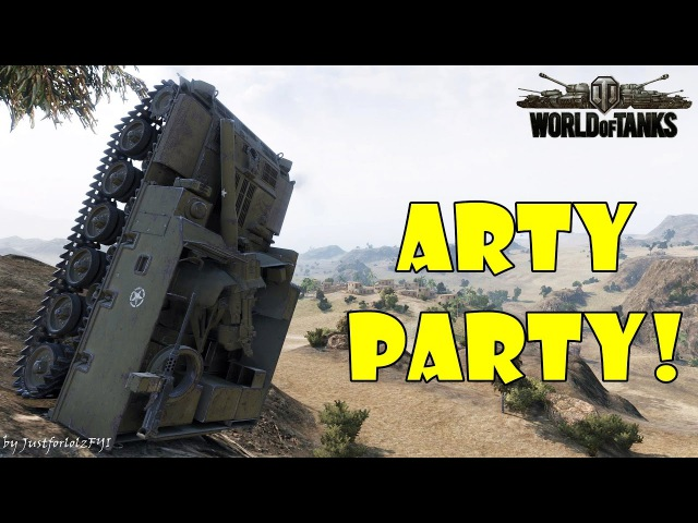 World of Tanks - Funny Moments   ARTY PARTY 4 (world of tank, приколы, моды, читы, wot)