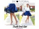 DIY Double Circle Skirt Tutorial - No Math Needed!