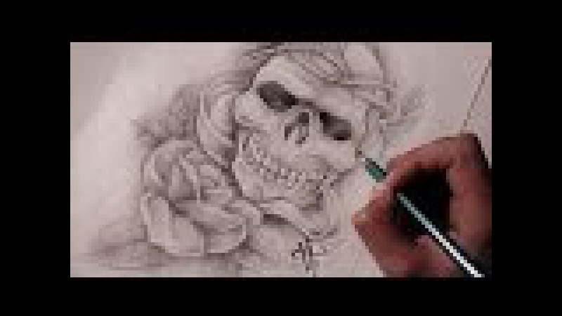 Diseño de Calavera Rosa Realista / Realistic Skull Rose - Nosfe Ink Tattoo